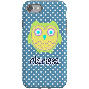 Cute Owl iPhone 4 Case Rubber iPhone 4 &amp; 4S Case Black