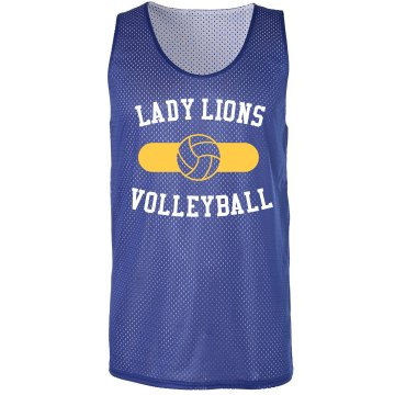 Lady Lions Pinnie Badger Sport Mesh Reversible Tank