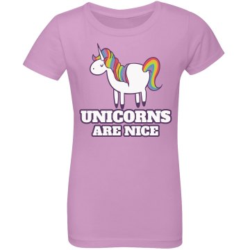 Unicorns Are Awesome Junior Fit Bella Sheer Longer Length Rib Tee
