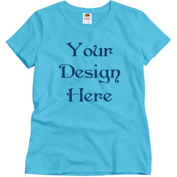 Design Your Own! Misses Relaxed Fit Basic Gildan Ultra Cotton Tee