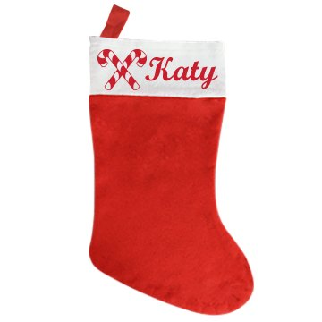 Candy Cane Stocking Giant Personalized Holiday Stocking