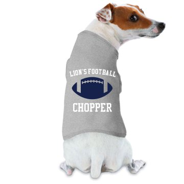 Lion's Football Dog Tee Doggie Skins Dog Ringer Tee