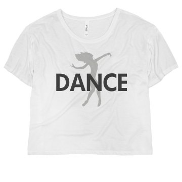 Dance Tee Misses Bella Flowy Boxy Lightweight Crop Tee