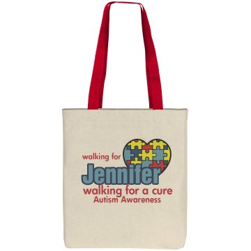 Walk For A Cure Liberty Bags Cotton Canvas Tote