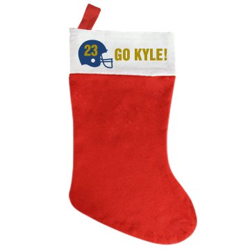 Kyle's Football Stocking Giant Personalized Holiday Stocking