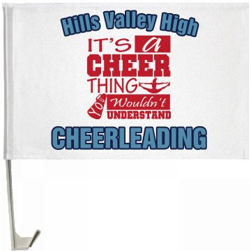 Cheer Flag One-Sided Driver Side Car Flag