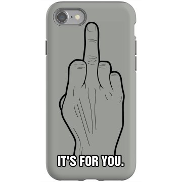 It's For You iPhone Rubber iPhone 4 & 4S Case Black