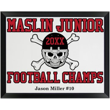 Football Champ Plaque Wood Plaque