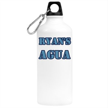 Ryan's Agua Aluminum Water Bottle
