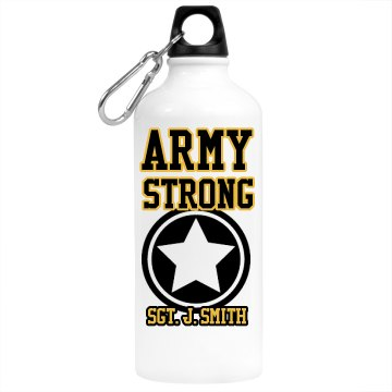 Military Army Strong Aluminum Water Bottle