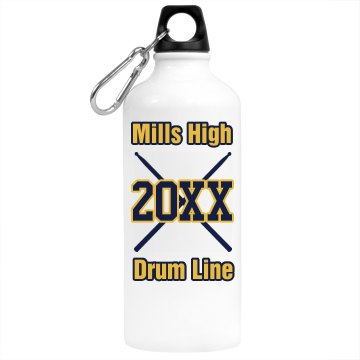 Drum Line Water Bottle Aluminum Water Bottle