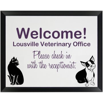 Veterinary Services Wood Plaque