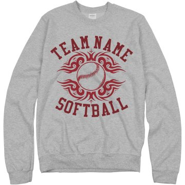 Warrior Softball Team Junior Fit Bella 1x1 Rib Ringer Tee
