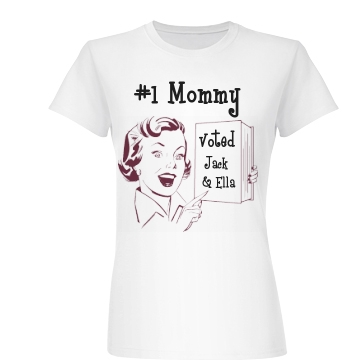 #1 Mommy! Junior Fit Basic Bella Favorite Tee