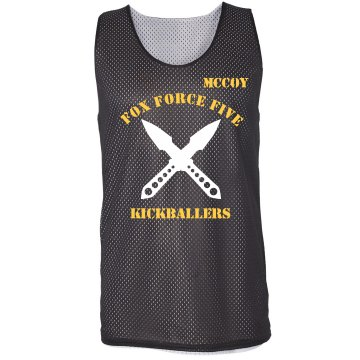 Fox Force Kickball w/Back Badger Sport Mesh Reversible Tank