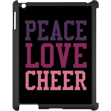 Peace Love Cheer Black iPad Snap-on Case