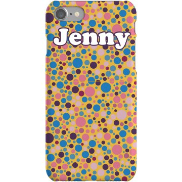 Colored Dots iPhone Case Plastic iPhone 5 Case White