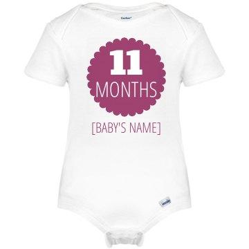 11 Month Marker