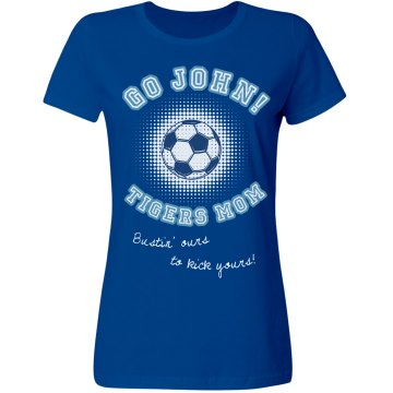 Tigers Soccer Mom Tee Misses Relaxed Fit Gildan Ultra Cotton Tee
