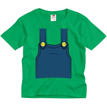 Youth Plumber Overalls Youth Gildan Ultra Cotton Crew Neck Tee