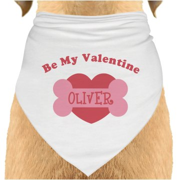 Be My Valentine Dog Bandana