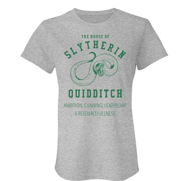 Slytherin Quidditch Fan Junior Fit American Apparel Fine Jersey Tee