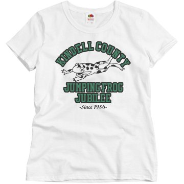 County Fair Frog Jump Misses Relaxed Fit Basic Gildan Ultra Cotton Tee