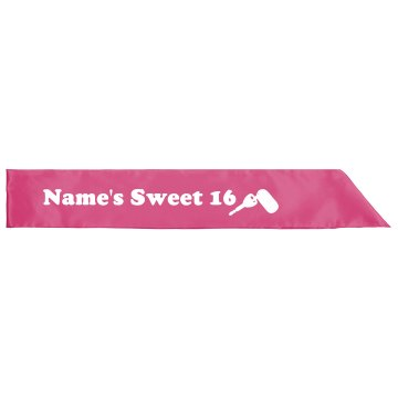 Mindy&#x27;s Sweet 16 Adult Satin Party Sash