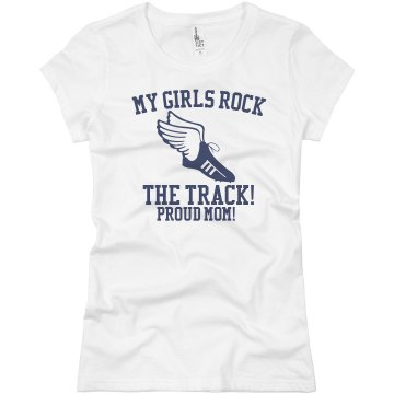 Girls Track Team Colors Junior Fit Basic Bella Favorite Tee