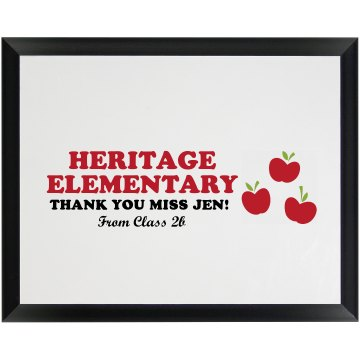 Autograph Class Plaque Wood Plaque
