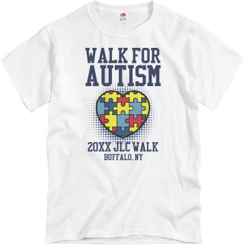 Walk for Autism Shirt Unisex Basic Gildan Heavy Cotton Crew Neck Tee