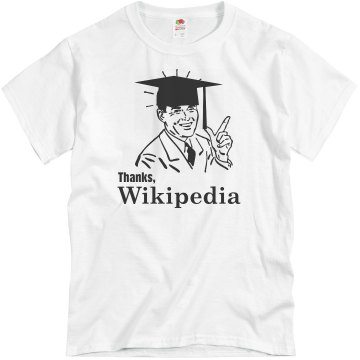 Thanks, Wikipedia Unisex Basic Gildan Heavy Cotton Crew Neck Tee