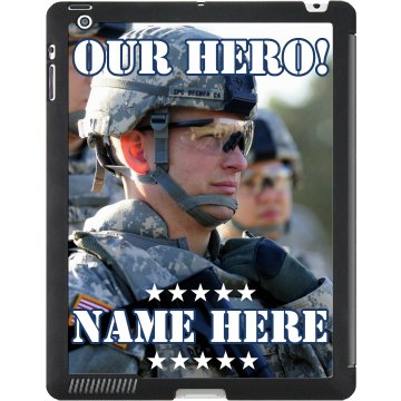 Military Hero Photo iPad Black iPad Smart Cover