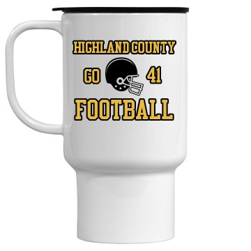 Football Fan Mug 15oz Travel Mug