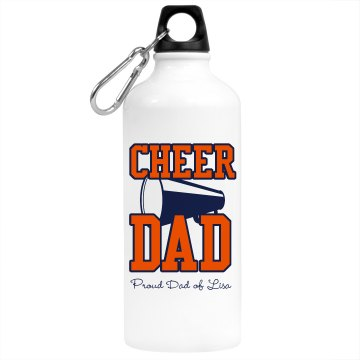 Cheer Dad Aluminum Water Bottle