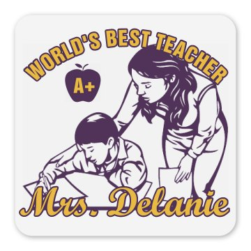 Best Teacher Gift Magnet Square Magnet