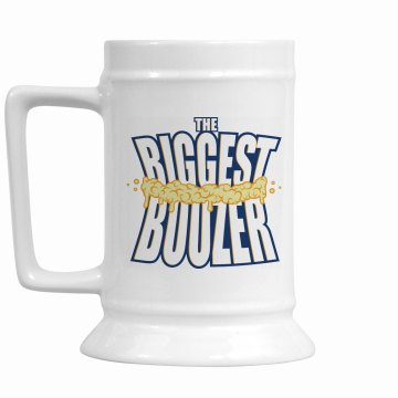 Biggest Boozer Mug w/Back 16oz Ceramic Stein