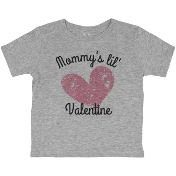 Plaid Momm Heart Toddler Basic Gildan Ultra Cotton Crew Neck Tee