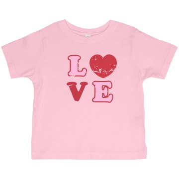 Retro Love Shirt Toddler Basic Gildan Ultra Cotton Crew Neck Tee