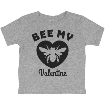 Bee My Valentine Toddler Basic Gildan Ultra Cotton Crew Neck Tee