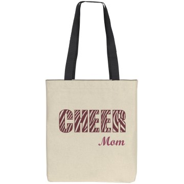 Cheer Mom Tote Bag Liberty Bags Cotton Canvas Tote