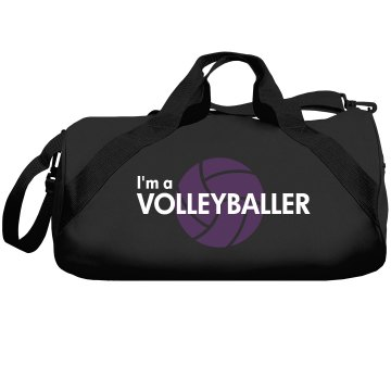 Volleyballer Gold Foil Liberty Bags Barrel Duffel Bag