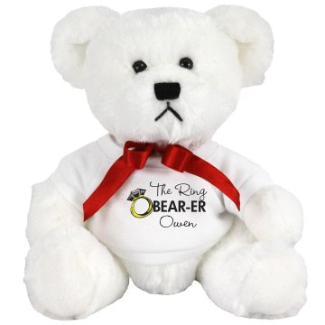 Custom Ring Bear-er Small Plush Teddy Bear