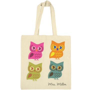 Cutey Owl Tote Bag Liberty Bags Canvas Bargain Tote Bag
