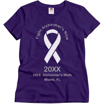 Fight Alzheimer's Now Misses Relaxed Fit Gildan Ultra Cotton Tee
