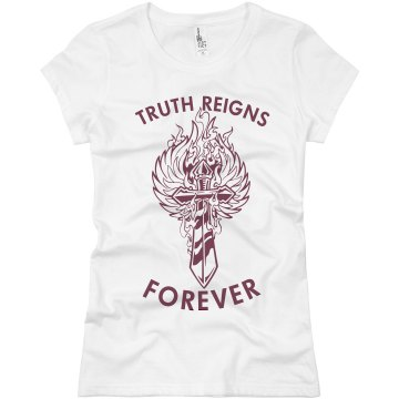 Sword Tattoo T-Shirt Junior Fit Basic Bella Favorite Tee