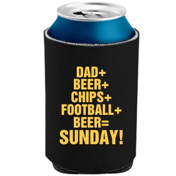 Dad And Football And Beer The Official KOOZIE Can Kooler