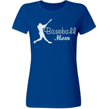 Rhinestone Baseball Mom  Misses Relaxed Fit Gildan Ultra Cotton Tee