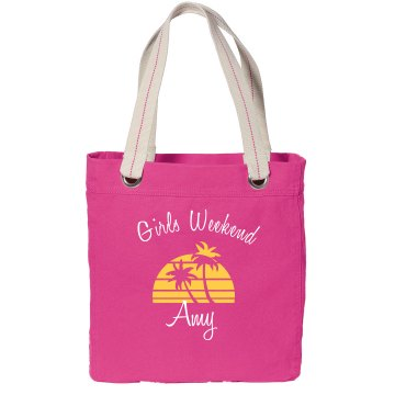 Girls Weekend Tote Port Authority Color Canvas Tote
