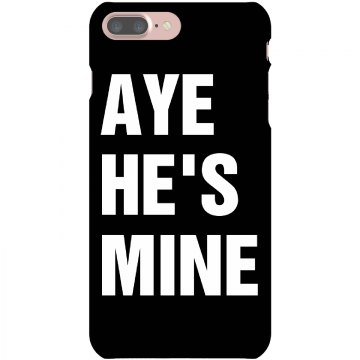Aye He's Mine iPhone 5 Plastic iPhone 5 Case Black